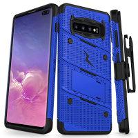 Zizo Bolt Series Samsung Galaxy S10 Plus Case - Blue