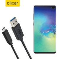 Olixar USB-C Samsung Galaxy S10 Plus Charging Cable - Black 1m