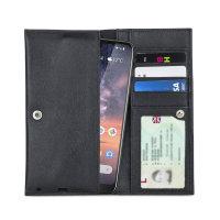 Olixar Primo Genuine Leather Nokia 3.2 Pouch Wallet Case - Black