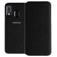 Official Samsung Galaxy A40 Wallet Flip Cover Case - Black