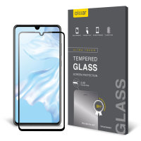 Olixar Huawei P30 Full Cover Glass Screen Protector - Black