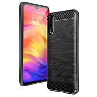 Olixar Samsung Galaxy A50 Carbon Fibre Protective Case - Black