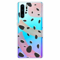 LoveCases Huawei P30 Pro Abstract Polka Case - Clear Multi
