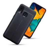 Olixar Attache Samsung Galaxy A30 Leather-Style Case - Black