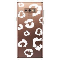 LoveCases Samsung Note 9 Leopard Print Case - Clear White