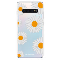 LoveCases Samsung Galaxy S10 Plus Daisy Case - Wit