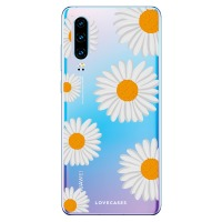 LoveCases Huawei P30 Daisy Case - Wit