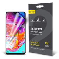 Olixar Samsung Galaxy A70 Film Screen Protector 2-in-1 Pack