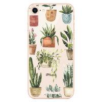 LoveCases iPhone 8 Plus Plant Phone Case - Clear Multi