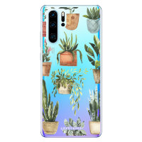 LoveCases Huawei P30 Pro Plant Phone Case - Clear Multi