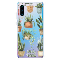 LoveCases Huawei P30 Plant Phone Case - Clear Multi