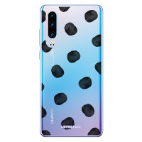 LoveCases Huawei P30 Polka Phone Case - Clear Black