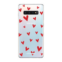LoveCases Samsung Galaxy S10 Plus Hearts Clear Phone Case