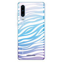 LoveCases Huawei P30 Zebra Phone Case - Clear White