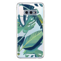 LoveCases Samsung S10e Tropical Phone Case - Clear Green