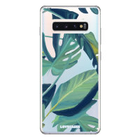 LoveCases Samsung S10 Plus Tropical Phone Case - Clear Green