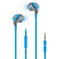 Thumbs Up Note Earphones with Microphone - Blue