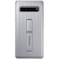 Official Samsung Galaxy S10 5G Protective Stand Cover Case - Silver