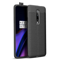 Olixar Attache OnePlus 7 Pro 5G Leather-Style Etui - Sort