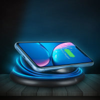 Ksix Flexylight Fast Charge Wireless Charger 10W with 4 Colour Lamp
