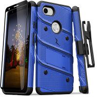 Zizo Bolt Google Pixel 3A Tough Case & Screen Protector - Blue/Black