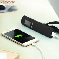 Promate PowerScale 3-in-1 Power Bank, Torch and Weighing Scale - Black