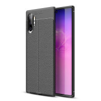 Olixar Attache Samsung Galaxy Note 10 Plus Leather-Style Case - Black