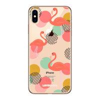 LoveCases iPhone XS Max Gel Case - Flamingo