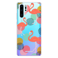 LoveCases Huawei P30 Pro Flamingo Clear Phone Case