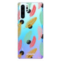 LoveCases Huawei P30 Pro Polka Leaf Clear Phone Case