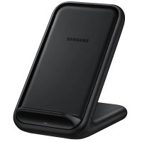 Official Samsung Fast Wireless Charger Stand 15W - Black