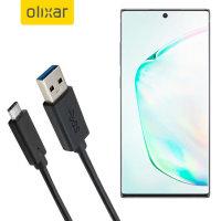 Olixar USB-C Samsung Galaxy Note 10 Plus 5G Charging Cable - Black 1m