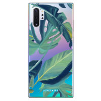 LoveCases Samsung Note 10 Plus Tropical Phone Case - Clear Green
