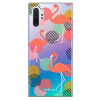 LoveCases Samsung Note 10 Plus Flamingo Phone Case - Clear Multi