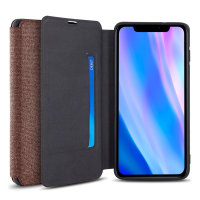 Olixar Canvas iPhone 11 Pro Wallet Case - Brown