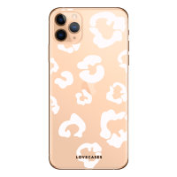 LoveCases iPhone 11 Pro Leopard Print Case- Clear White