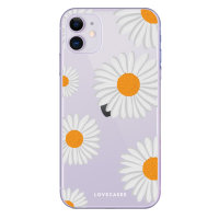 LoveCases iPhone 11 Daisy Case - clear white