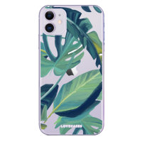LoveCases iPhone 11 Tropical Phone Case - Clear Green