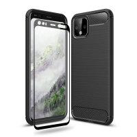 Olixar Sentinel Google Pixel 4 Case & Glass Screen Protector - Black
