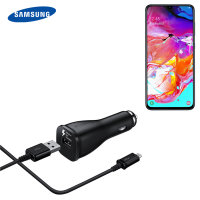 Official Samsung Galaxy A70s USB-C Fast Car Charger Cable - Single