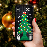 Olixar Mini Block iPhone XS / X Christmas Case - Christmas Tree