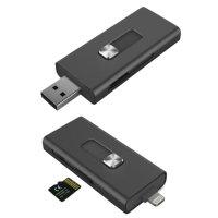 Ksix Micro SD Reader for iOS Devices - Black