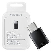 Official Samsung A71 Micro USB To USB-C Adapter- Retail Packed- Black