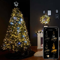 Twinkly Icicle Smart LED Christmas Lights Gold Edition - 190 LED's