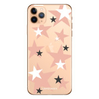 LoveCases iPhone 11 Pro Pink Star Clear Phone Case