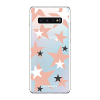 LoveCases Samsung S10 Plus Pink Star Clear Phone Case