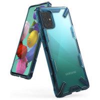 Ringke Fusion X Samsung Galaxy A51 Tough Case - Space Blue