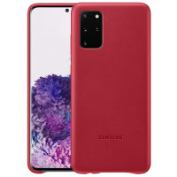 Official Samsung Galaxy S20 Plus Leather Cover Case - Red