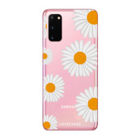 LoveCases Samsung Galaxy S20 Daisy Clear Phone Case