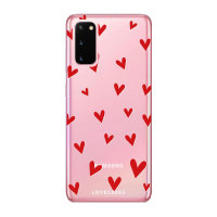 LoveCases Samsung Galaxy S20 Hearts Clear Phone Case